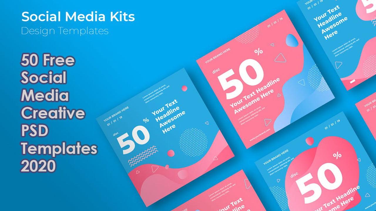 50 Free Social Media Creative PSD Templates 2020