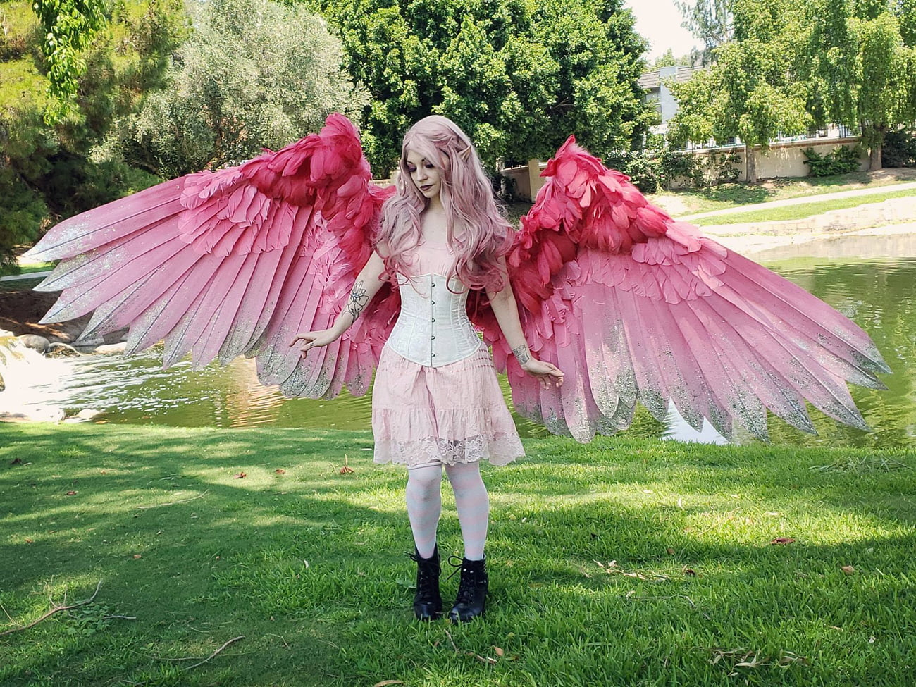 Alexis Noriega's Giant Feathered Wings