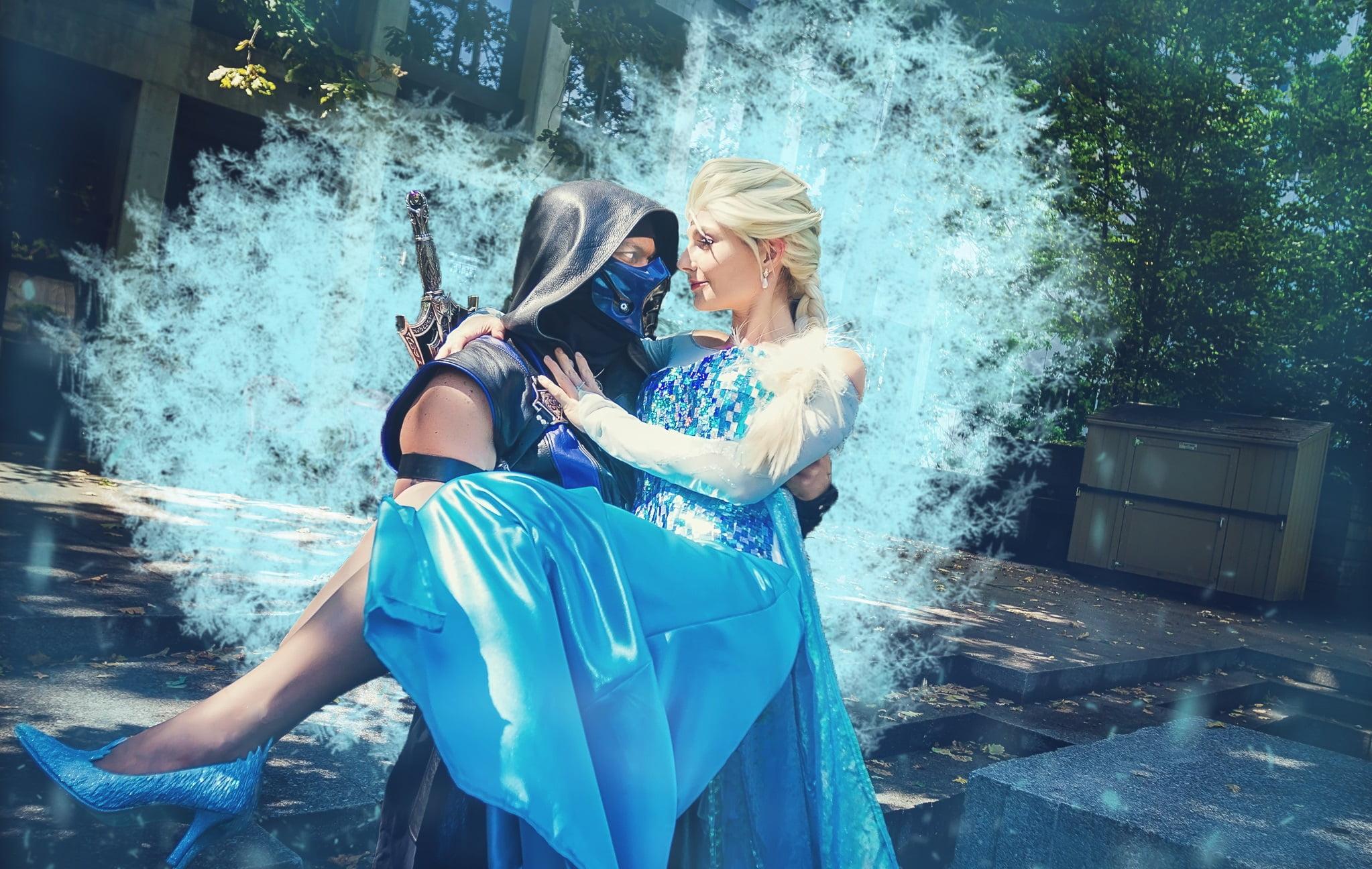 Mortal Kombat's Sub-Zero & Frozen's Elsa
